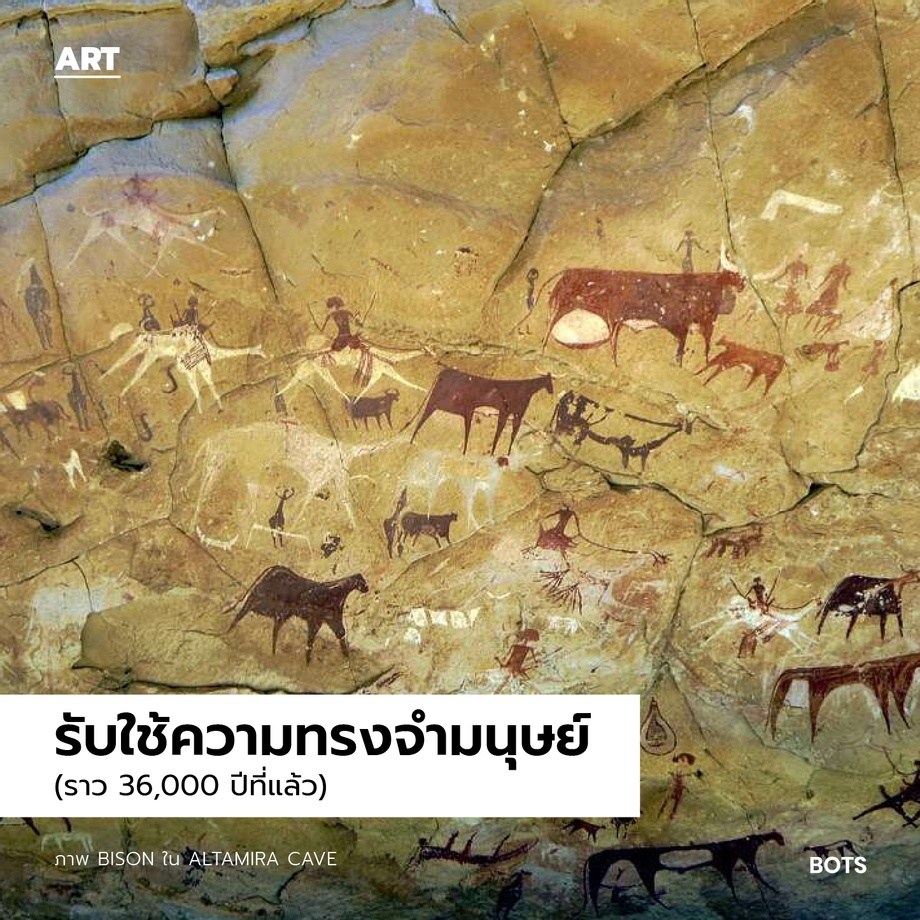 bots-ศิลปะรับใช้อะไร-BisonในAltamira Cave